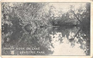 Hudson New York view of lake at Electric Park antique pc ZC548789