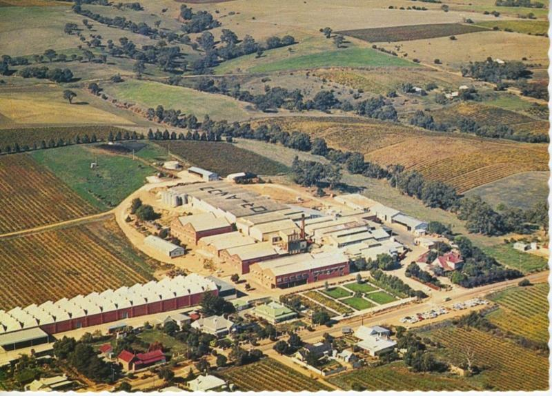 Orlando Wine Cellars Vineyard Barossa Valley South Australia Aerial Postcard D15