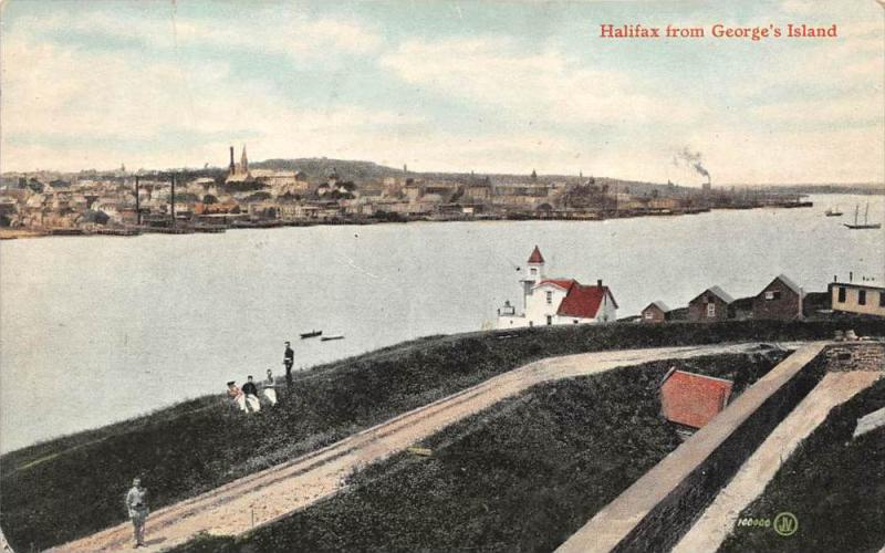 10107 Nova  Scotia  Halifax 1912   Aerial View of Halifax  from George´s Island