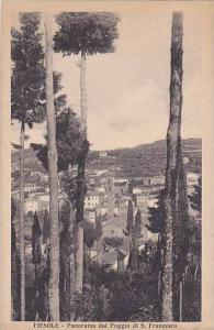 FIESOLE, Panorama al Poggio de S. Francesco, Florence, Toscana, Italy, 10-20s