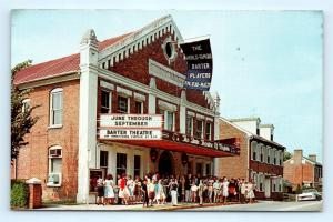 Postcard VA Abingdon The Barter Theatre c1950's Barter Players Old Car J5