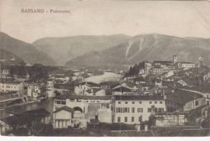 Bassano ( del Grappa) , Veneto, in northern Italy , PU-1920 Panorama