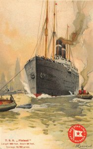 LP38  Ship Red Star Line Cassiers Vintage Postcard Poster Style