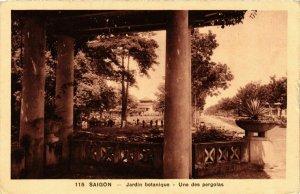 CPA AK INDOCHINA Saigon Jardin botanique VIETNAM (957416)