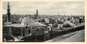 Vintage Egypt Postcard Cairo General View Panoramic Bookmark Style BE6