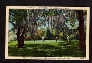 MS Edgewater Park Golf Course Biloxi GULFPORT Miss Mississippi Postcard Golfing