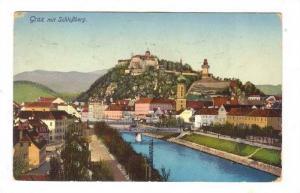 Graz mit Schlossberg , Austria, PU-1915