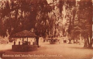 OAKLAND CALIFORNIA~IDORA PARK BEAUTIFU~REBECCA WELL~SEPIA POSTCARD 1912