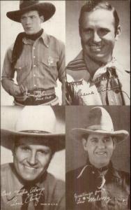 Cowboy Actors 4in1 Exhibit Arcade Card Leo Maloney Gene Autry Tom Tyler