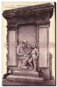 Postcard Old Saint Sauves Monument Aux Morts