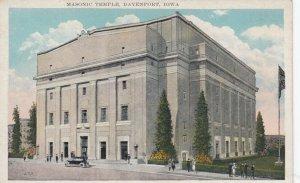 DAVENPORT , Iowa, 00-10s; Masonic Temple