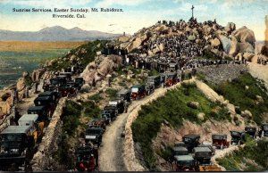 California Riverside Sunrise Services Easter Sunday Mount Rubidoux 1922 Curteich