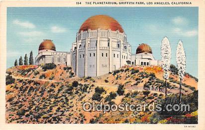 Space Postcard Post Card Los Angeles, CA, USA Planetarium, Griffith Park Spac...