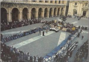 LORETO, Blessing the infirm at the Square of Our Lady, 1969 used Postcard