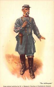 Artilleryman, WL Sheppard Civil War Unused