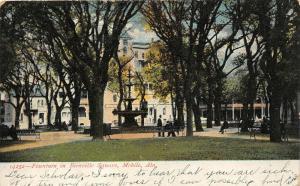 F15/ Mobile Alabama Postcard 1909 Fountain Bienville Sqaure 11