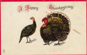 TUCK #186, A Happy Thanksgiving, Wild Turkeys, 10-20s