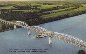 The Delta Queen And George Rogers Clark Bridge Across The Tennesse River West...