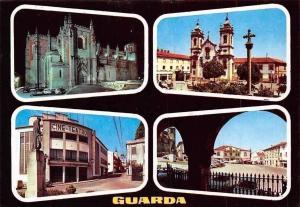 Portugal Guarda Se Catedral Vista Nocturna Igreja de Misericordia Statue Church