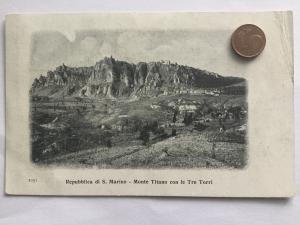 Republic so San Marino, Monte Titano von le Tre Torri, 1910