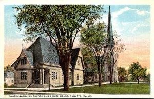 Maine Augusta Congregational Church and Parish House Curteich