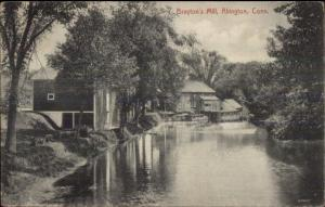 Abington CT Brayton's Mill c1910 Postcard jrf
