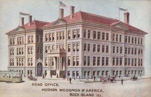 ROCK ISLAND, Illinois, 1900-1910's; Head Office, Modern Woodmen Of America