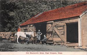 Old Blacksmith Shop, East Walpole, Massachusetts, Early Postcard, Unused