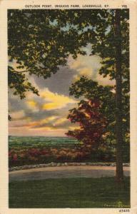Postcard Outlook Point Iroquois Park Louisville Kentucky