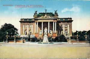 Germany Wiesbaden Staatstheater mit Schillerdenkmal 02.62