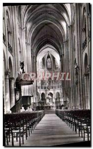 Modern Postcard Noyon Interior of the Cathedral Nave
