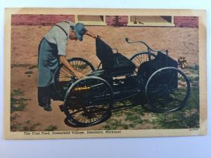 Dearborn Michigan Greenfield Village First Ford Henry Ford Vintage Postcard A22