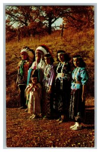 Sac And Fox Indians Tama County Iowa Vintage Standard View Postcard