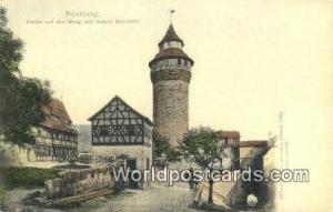 Nurnberg Germany, Deutschland Postcard Partie auf der Burg mit tiefem Brunnen...