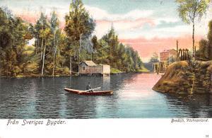 Sweden Old Vintage Antique Post Card Fran Sveriges Bygder Bredsjo Vastmanland...