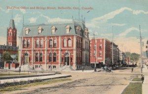 BELLEVILLE, Ontario , 1900-10s ; Post Office & Bridge Street