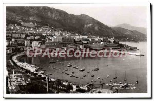 Old Postcard Monte Carlo inside the port