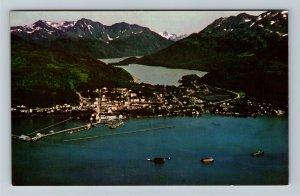 Cordova AK-Alaska, Aerial View of Seaport of the Copper River, Katalla Postcard