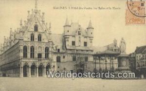 Malines, Belgium, België, la Belgique, Belgien L'Hotel des Postes, les Halle...