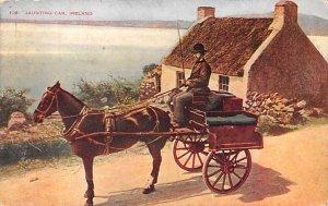 Jaunting Car Ireland Writing on back
