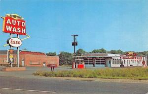 Rome NY Boulevard Auto Wash Esso Gas Station Postcard