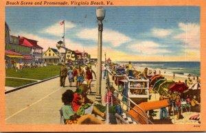 Virginia Virginia Beach Beach Scene and Promenade