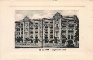 King Edwards Court, Calcutta, India, Early Postcard, Unused