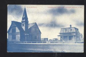 FAULKTON SOUTH DAKOTA SD CONGREGATIONAL CHURCH VINTAGE POSTCARD 1909