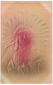Indian Chief, Heavy Embossed