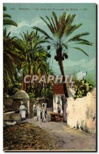 Algeria Biskra Constantine Old Postcard A corner of the village M'Cid