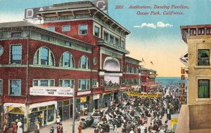Auditorium, Dancing Pavilion OCEAN PARK, CA Vaudeville c1910s Vintage Postcard