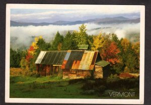 VT Sugarhouse Sugar House Maple Syrup Moretown Vermont Fall Foliage postcard
