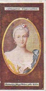 Player Vintage Cigarette Card Miniatures No 3 Portrait Of A Young Woman   1923