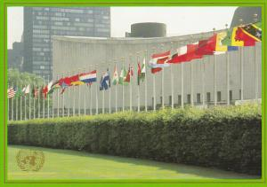 United Nations Postal Admin Member States Flags United Nations Headquarters